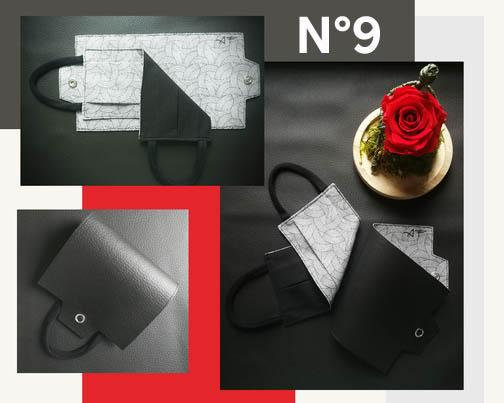 9-Porte-masque en Noir et Abstrait